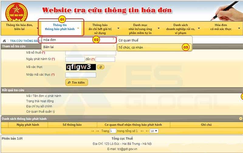 tra cứu phát hành hóa đơn - Viettel Phú Nhuận