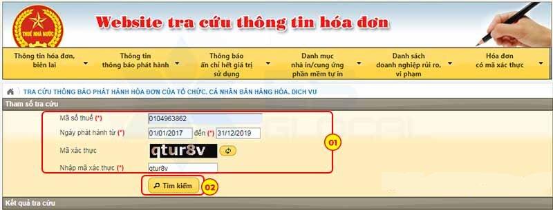 tra cuu thong bao phat hanh hoa don - Viettel Phú Nhuận