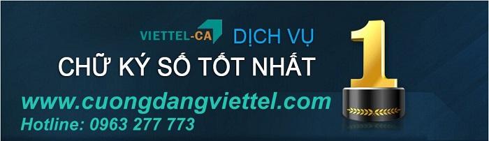 Bảng giá gia hạn chữ ký số - Viettel Phú Nhuận