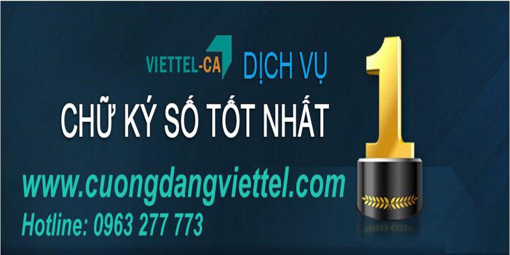 Chữ ký số Viettel - Chữ ký số Viettel