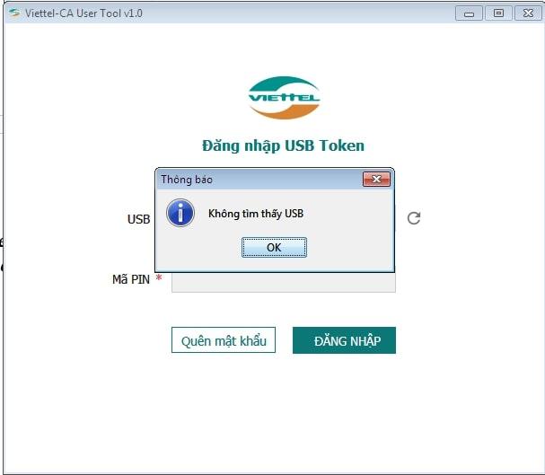 mã pin token bị khóa - Viettel Phú Nhuận