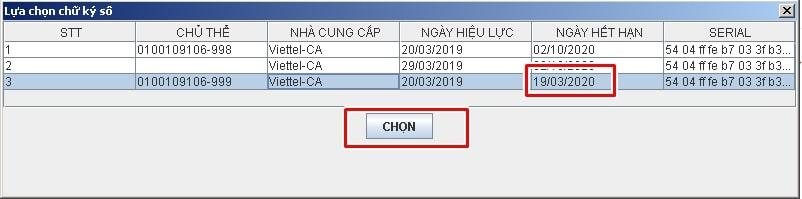 lỗi chưa đăng ký chứng thư số - Viettel Phú Nhuận