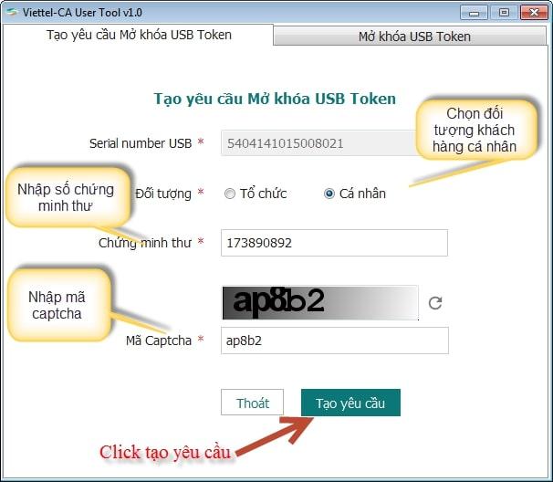 cách lấy lại mã pin chữ ký số viettel - Phú Nhuận
